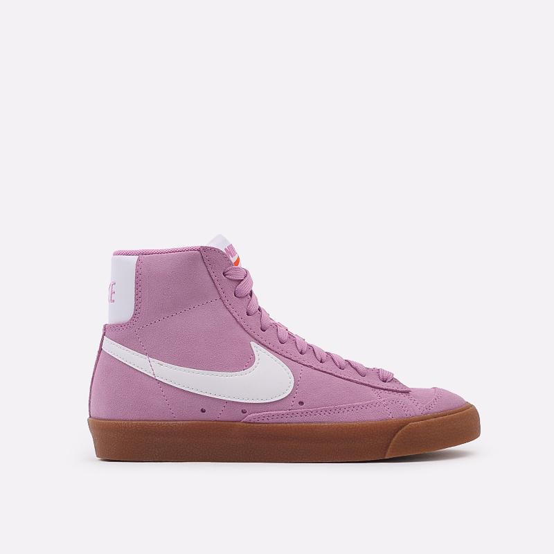женские розовые  кроссовки nike wmns blazer mid '77 suede DB5461-600 - цена, описание, фото 1