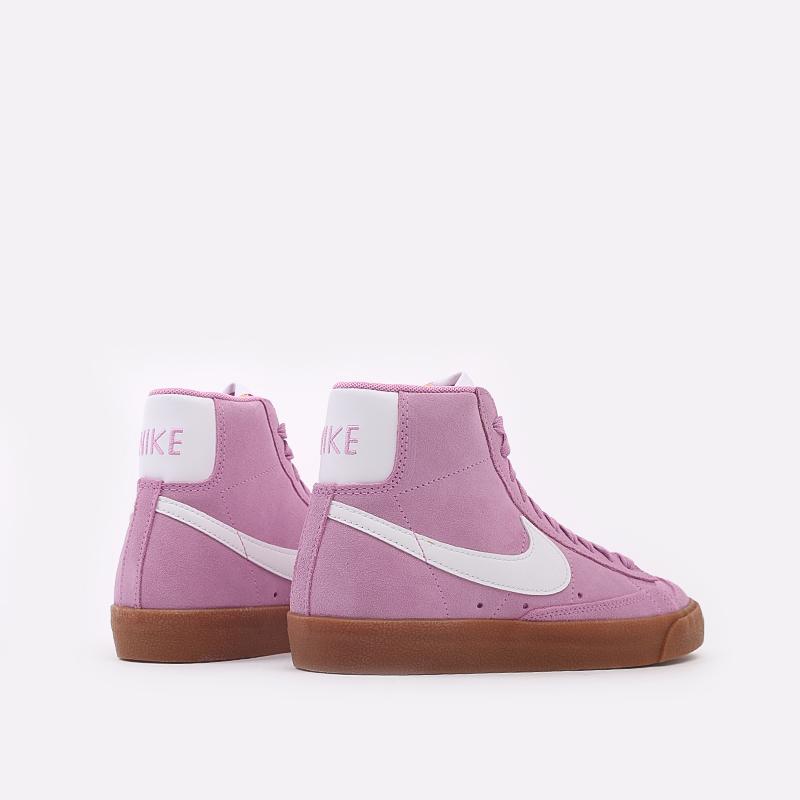женские розовые  кроссовки nike wmns blazer mid '77 suede DB5461-600 - цена, описание, фото 4