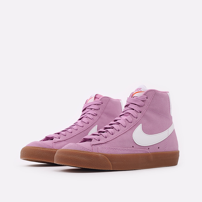 женские розовые  кроссовки nike wmns blazer mid '77 suede DB5461-600 - цена, описание, фото 2