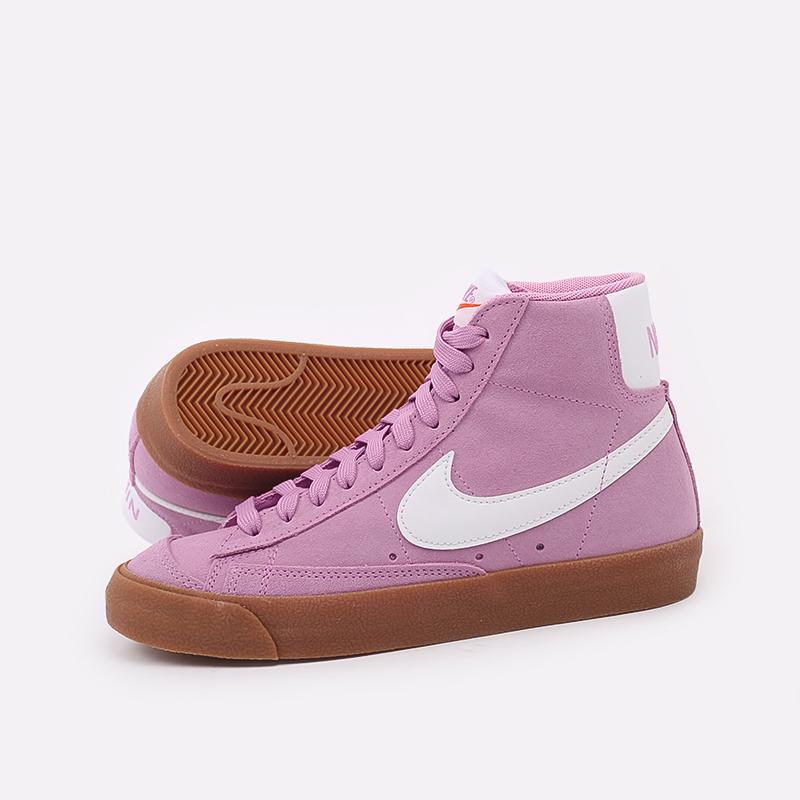 женские розовые  кроссовки nike wmns blazer mid '77 suede DB5461-600 - цена, описание, фото 7