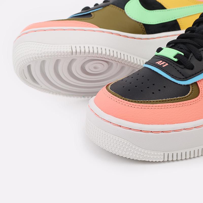 женские разноцветные  кроссовки nike wmns air force 1 shadow se CT1985-700 - цена, описание, фото 4