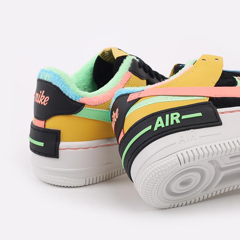 женские разноцветные  кроссовки nike wmns air force 1 shadow se CT1985-700 - цена, описание, фото 6
