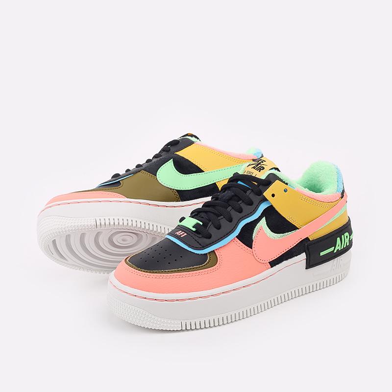 женские разноцветные  кроссовки nike wmns air force 1 shadow se CT1985-700 - цена, описание, фото 3