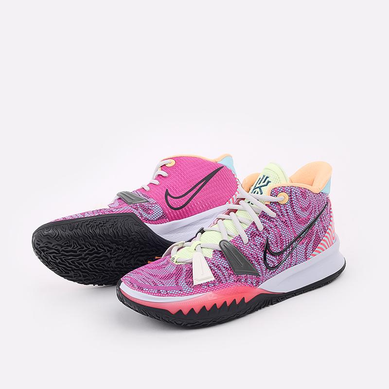 мужские разноцветные  кроссовки nike kyrie 7 DC0588-601 - цена, описание, фото 5