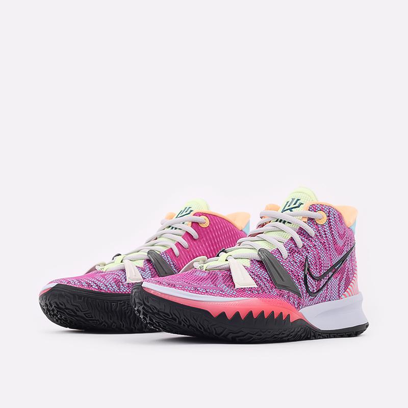 мужские разноцветные  кроссовки nike kyrie 7 DC0588-601 - цена, описание, фото 2