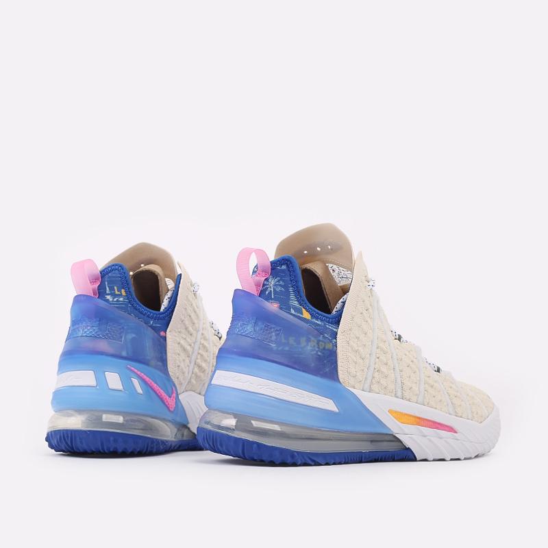 мужские бежевые  кроссовки nike lebron xviii DB8148-200 - цена, описание, фото 4