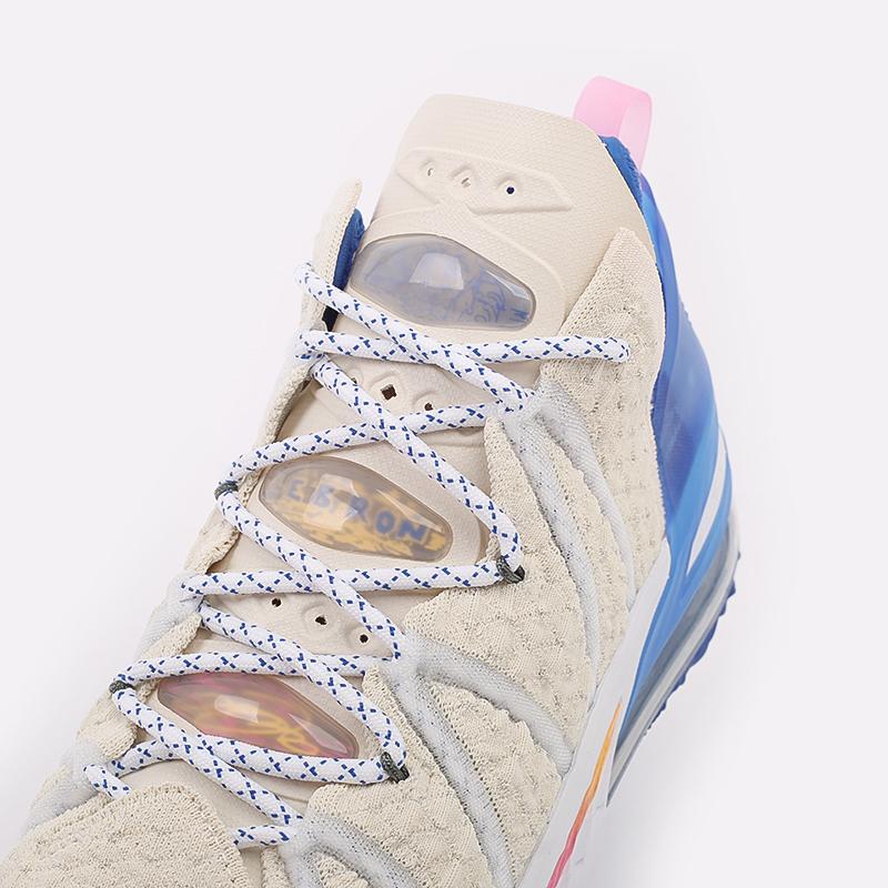 мужские бежевые  кроссовки nike lebron xviii DB8148-200 - цена, описание, фото 8