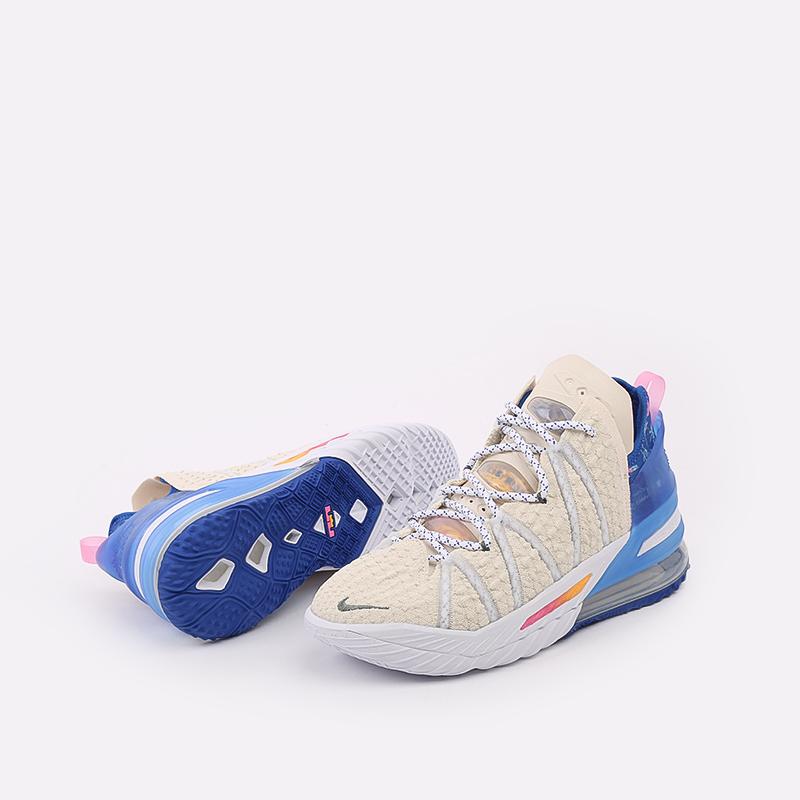 мужские бежевые  кроссовки nike lebron xviii DB8148-200 - цена, описание, фото 6
