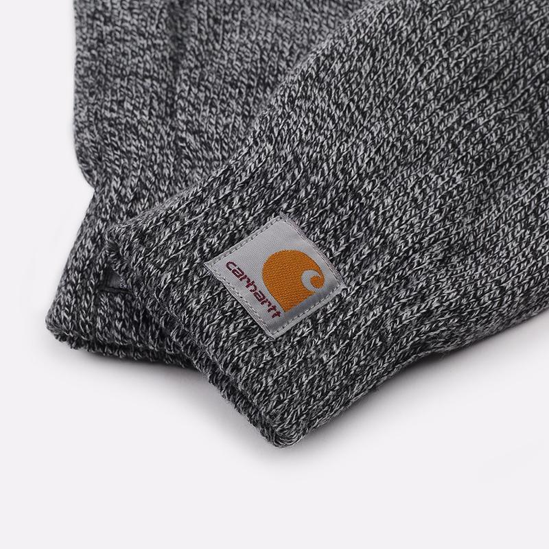 серые  перчатки carhartt wip scott I015530-black/wax - цена, описание, фото 2