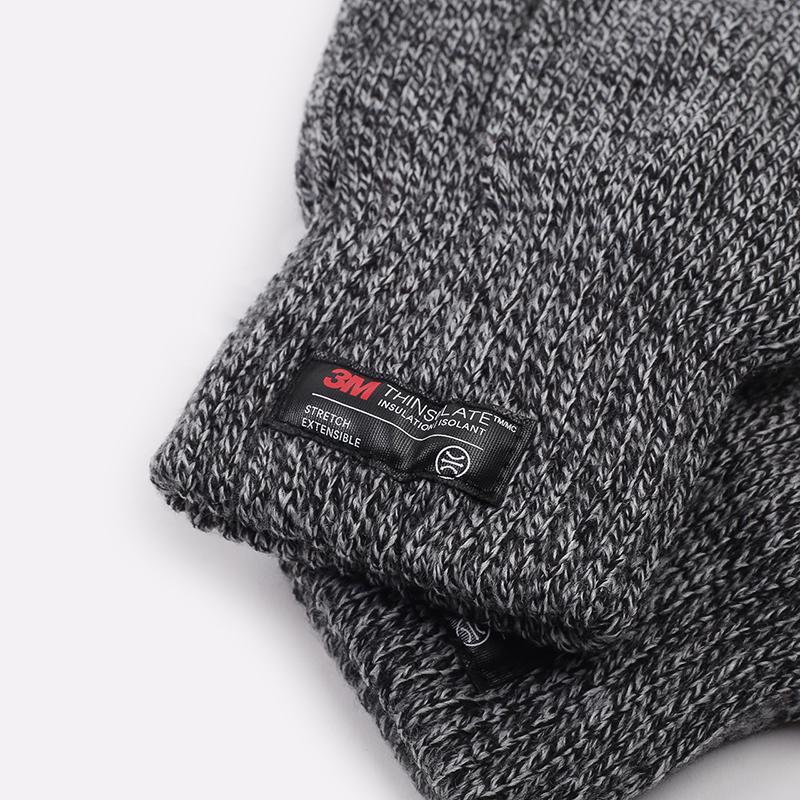 серые  перчатки carhartt wip scott I015530-black/wax - цена, описание, фото 3