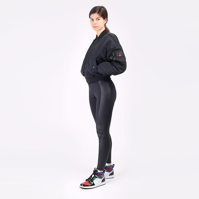женскую чёрную  куртку jordan flight CW6447-010 - цена, описание, фото 5