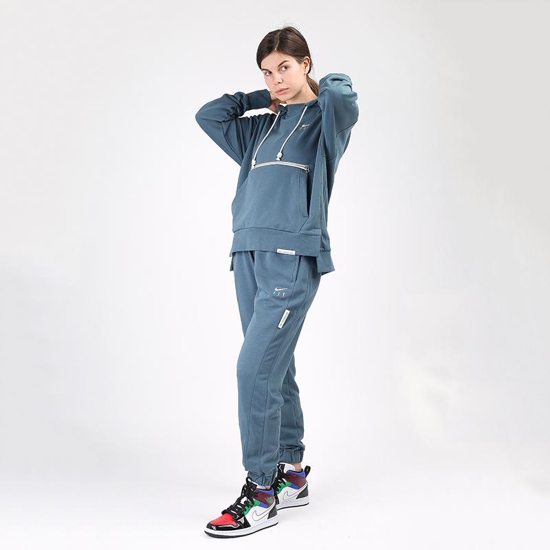 женскую синюю  толстовка nike swoosh fly standart issue CU3479-058 - цена, описание, фото 3