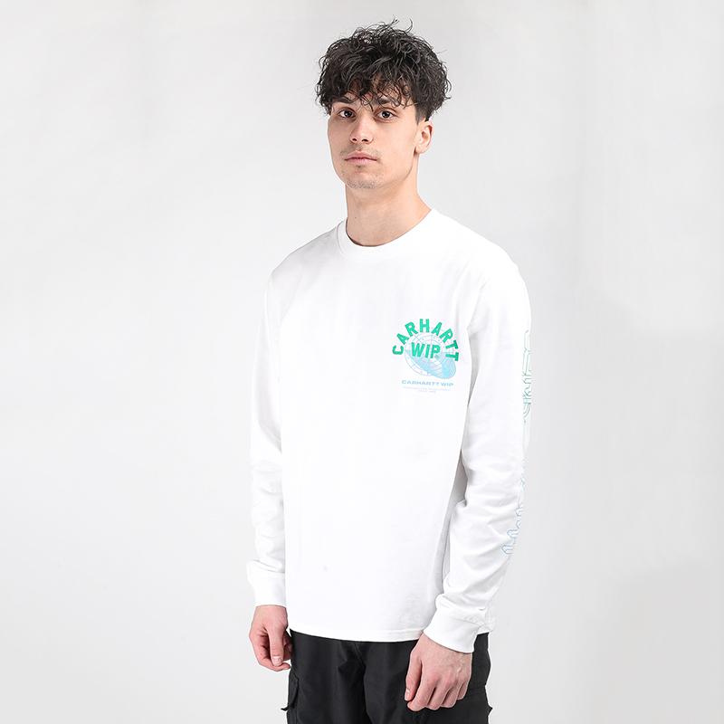 мужскую белую  футболка carhartt wip remix t-shirt I028487-white - цена, описание, фото 1
