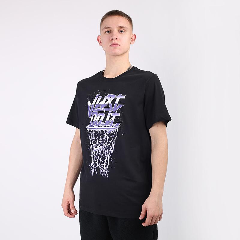 мужскую чёрную  футболка nike metallic just do it CV2099-010 - цена, описание, фото 1