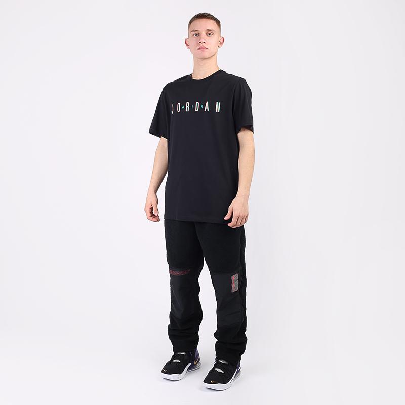 мужскую чёрную  футболка jordan sport dna CN3330-011 - цена, описание, фото 2