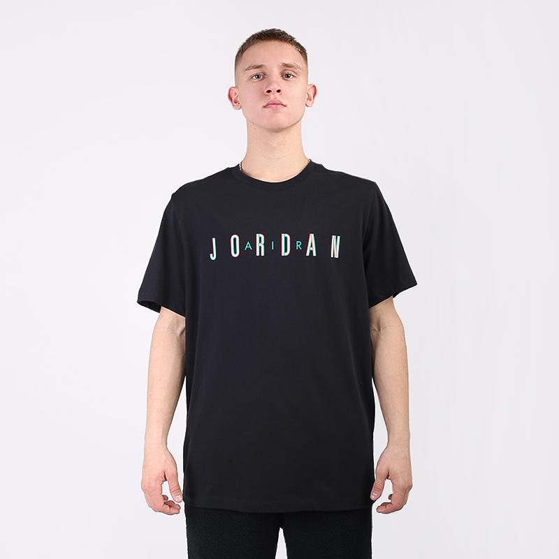 мужскую чёрную  футболка jordan sport dna CN3330-011 - цена, описание, фото 3