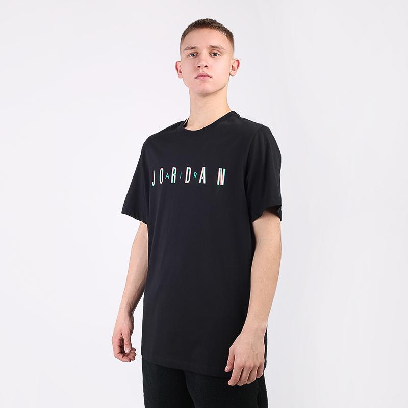 мужскую чёрную  футболка jordan sport dna CN3330-011 - цена, описание, фото 1