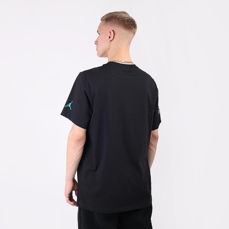 мужскую чёрную  футболка jordan sport dna CN3330-011 - цена, описание, фото 4