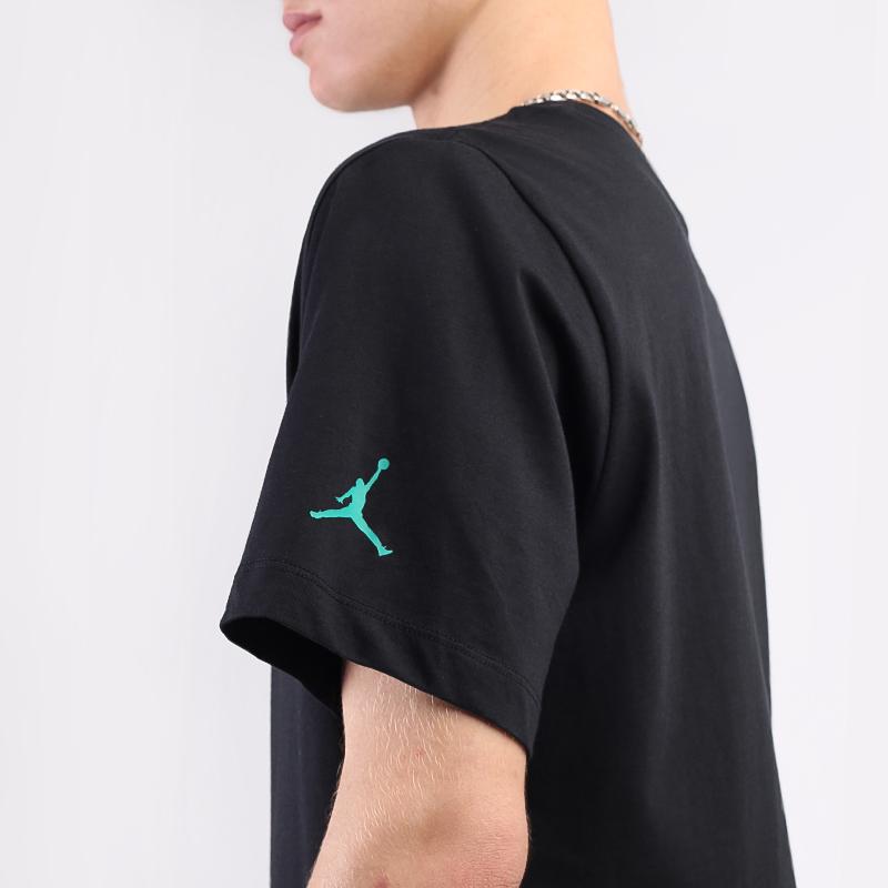 мужскую чёрную  футболка jordan sport dna CN3330-011 - цена, описание, фото 5