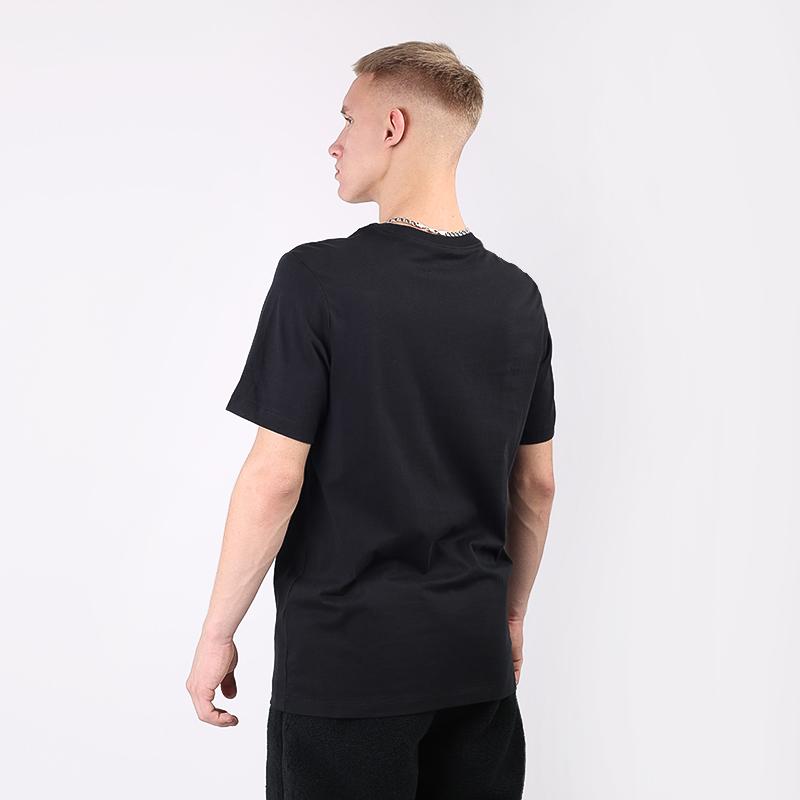 мужскую чёрную  футболка jordan 1 crew CZ0432-010 - цена, описание, фото 5