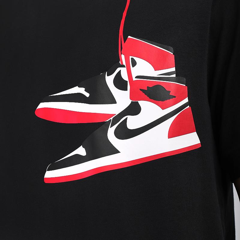 мужскую чёрную  футболка jordan 1 crew CZ0432-010 - цена, описание, фото 4