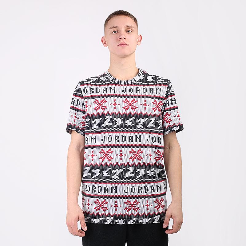 мужскую чёрную  футболка jordan ugly sweater crew CT3711-101 - цена, описание, фото 3