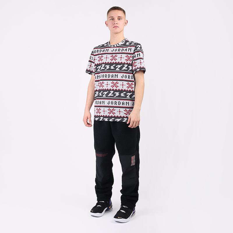 мужскую чёрную  футболка jordan ugly sweater crew CT3711-101 - цена, описание, фото 2