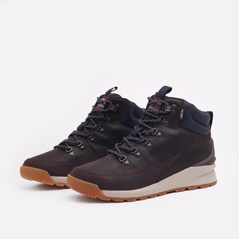 мужские бордовые  ботинки the north face back-to-berkeley mid wp TA4AZETG7 - цена, описание, фото 2