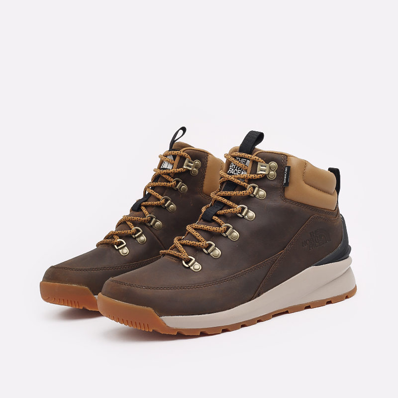 мужские коричневые  ботинки the north face back-to-berkeley mid wp TA4AZEYW2 - цена, описание, фото 2