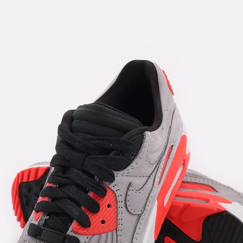 серые  кроссовки nike air max 90 qs CZ7656-001 - цена, описание, фото 8