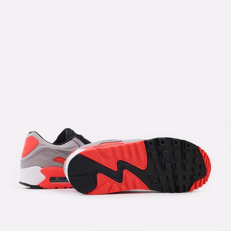 серые  кроссовки nike air max 90 qs CZ7656-001 - цена, описание, фото 3