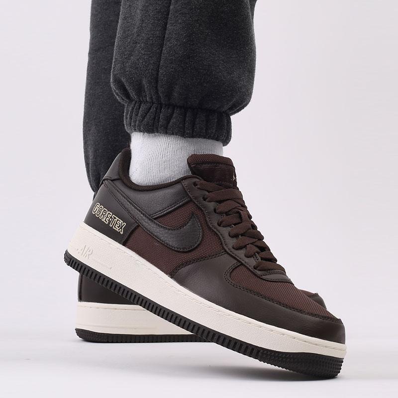 мужские коричневые  кроссовки nike air force 1 gtx CT2858-201 - цена, описание, фото 8