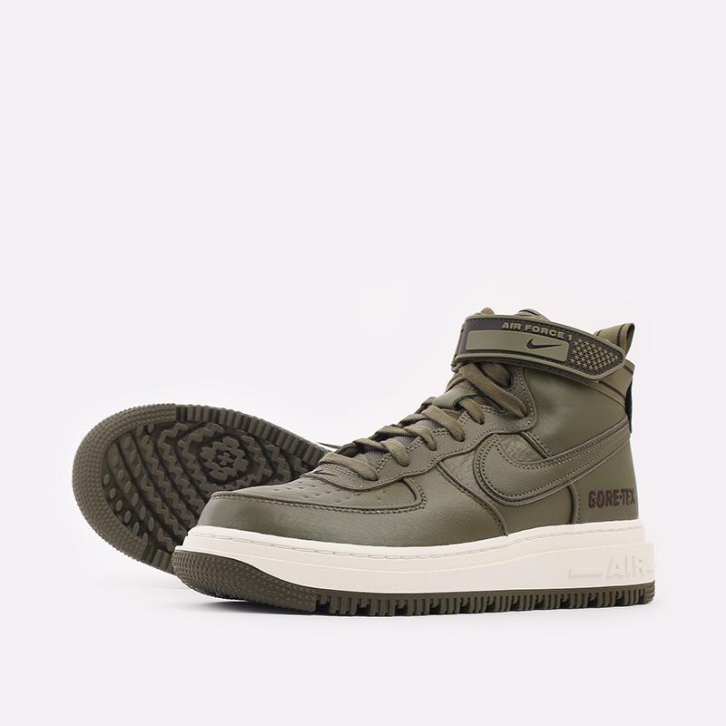 мужские зелёные  кроссовки nike air force 1 gtx boot CT2815-201 - цена, описание, фото 7