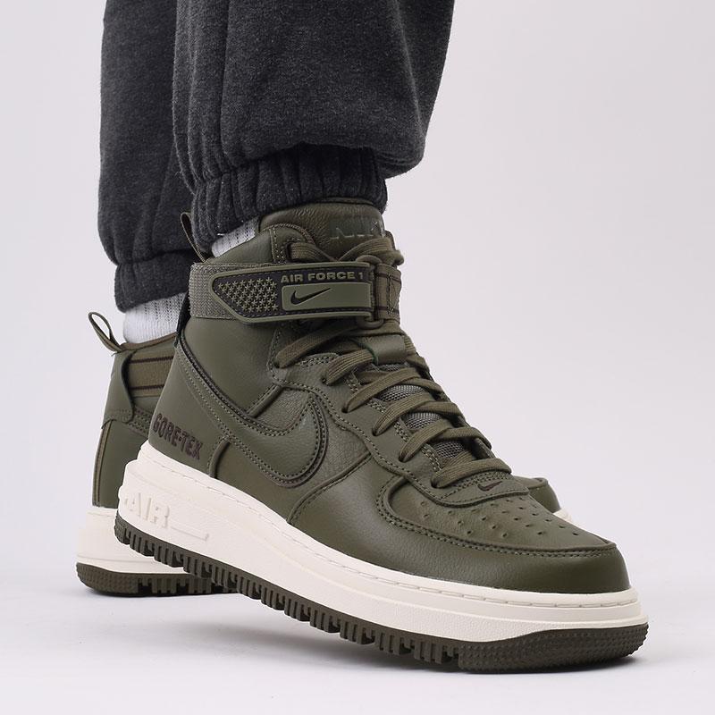 мужские зелёные  кроссовки nike air force 1 gtx boot CT2815-201 - цена, описание, фото 10