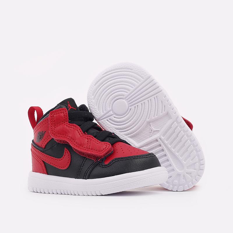 детские чёрные, красные  кроссовки jordan 1 mid alt (td) AR6352-074 - цена, описание, фото 2