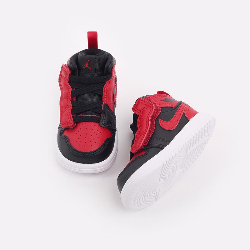 детские чёрные, красные  кроссовки jordan 1 mid alt (td) AR6352-074 - цена, описание, фото 6