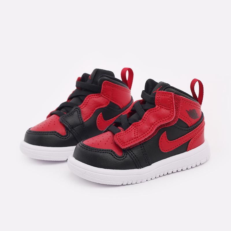 детские чёрные, красные  кроссовки jordan 1 mid alt (td) AR6352-074 - цена, описание, фото 4