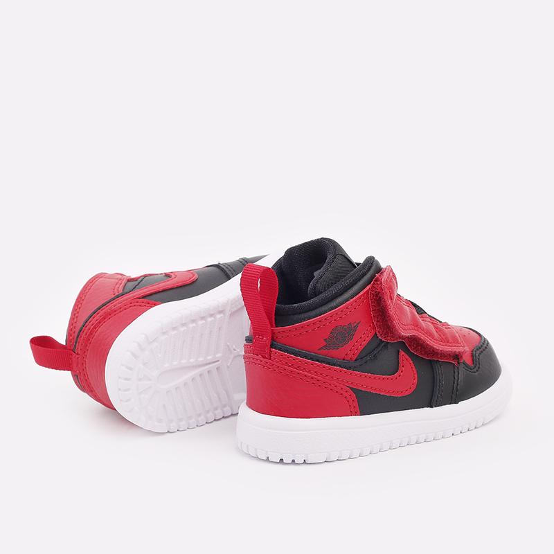 детские чёрные, красные  кроссовки jordan 1 mid alt (td) AR6352-074 - цена, описание, фото 3