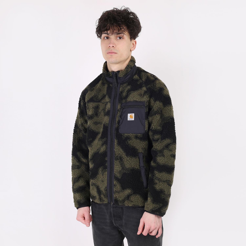 мужскую зеленую  куртку carhartt wip prentis liner I025120-camoblur - цена, описание, фото 1