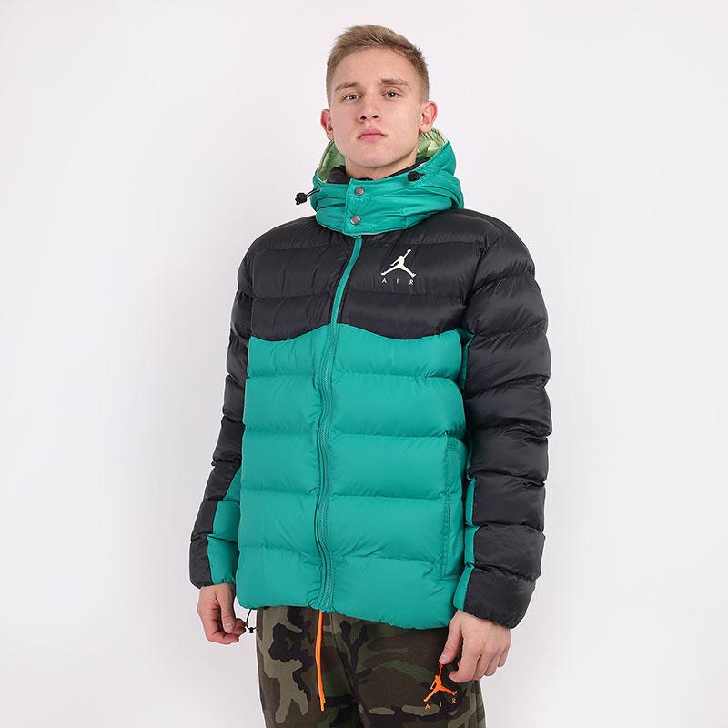 мужскую зеленую  куртку jordan jumpman air puffer CK6885-370 - цена, описание, фото 1