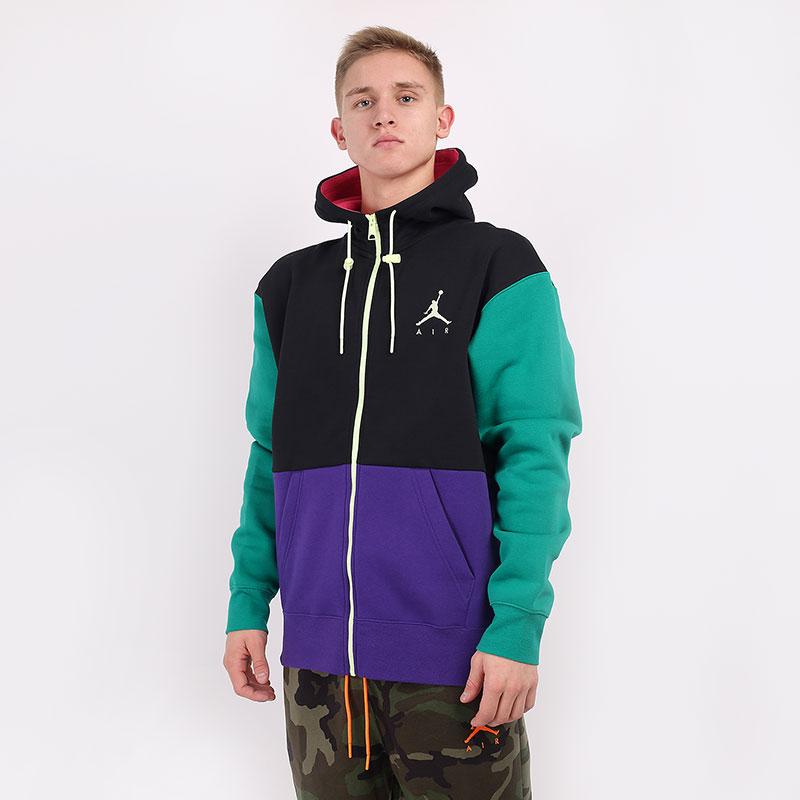 мужскую разноцветную  толстовка jordan jumpman air fleece full-zip CK6679-011 - цена, описание, фото 1
