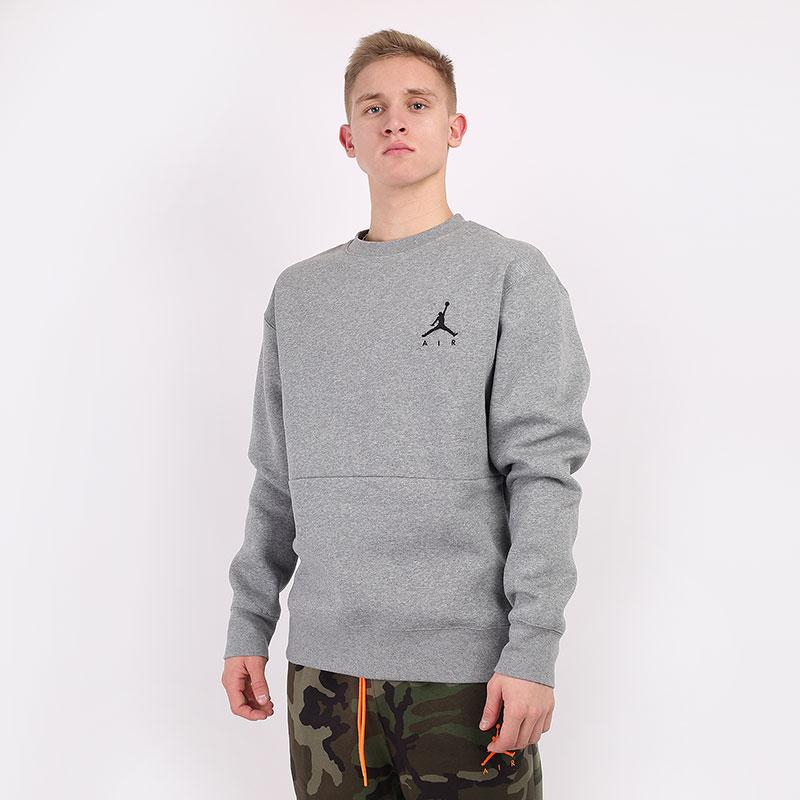 мужскую серую  толстовка jordan jumpman fleece sweatshirt CT3455-091 - цена, описание, фото 1