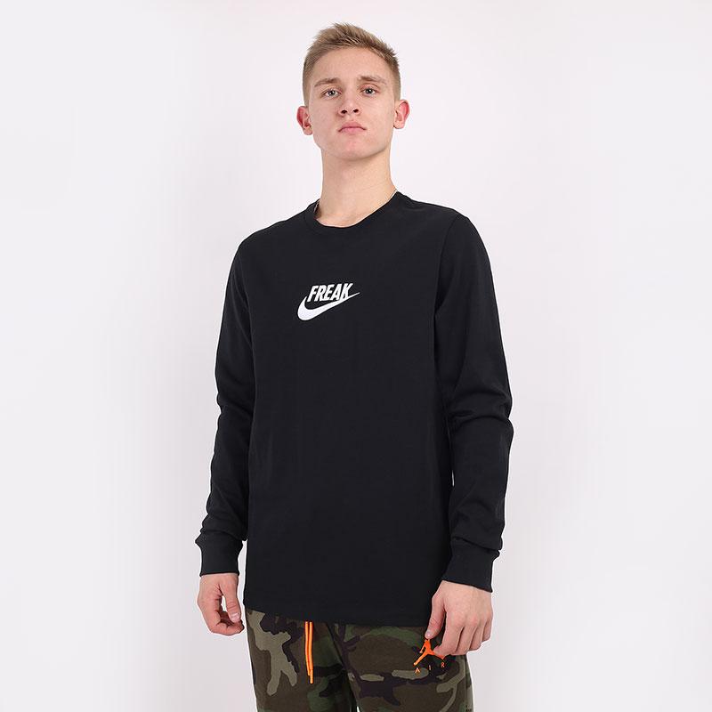 мужской черный  лонгслив nike giannis freak basketball t-shirt CV2089-010 - цена, описание, фото 1
