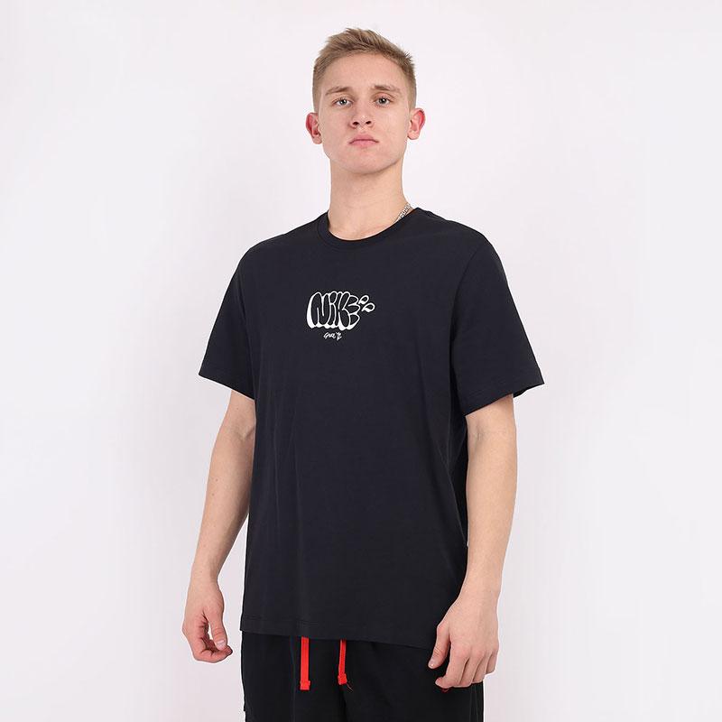 мужскую черную  футболка nike exploration series CV2039-010 - цена, описание, фото 1