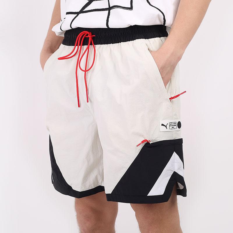 мужские бежевые шорты  PUMA Parquet Shorts 59993402 - цена, описание, фото 1