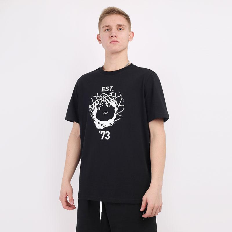 мужскую черную  футболка puma parquet street graphic tee 59993804 - цена, описание, фото 1