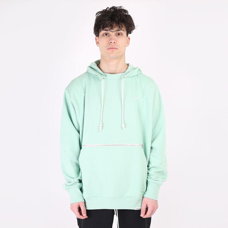 мужскую зеленую  толстовка nike standard issue basketball pullover hoodie CV0864-386 - цена, описание, фото 1
