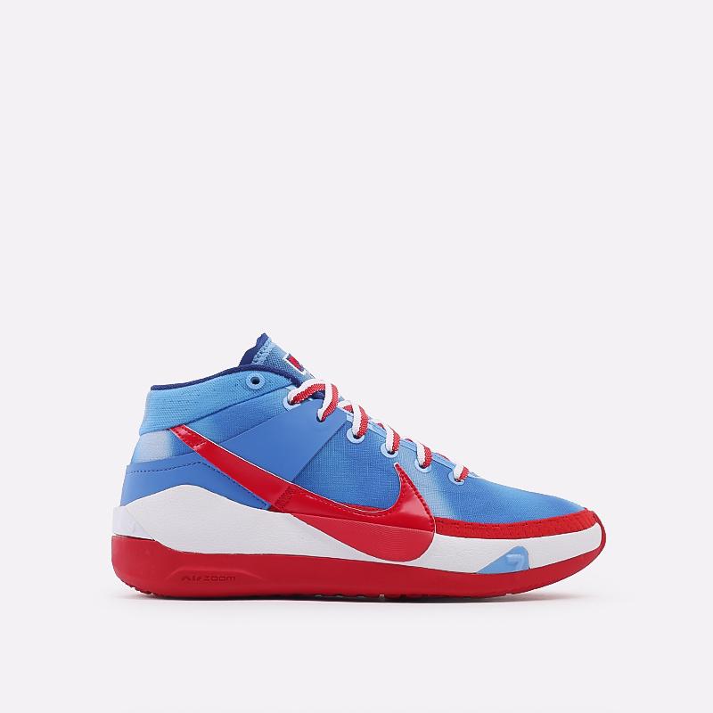 синие, красные, белые  кроссовки nike kd13 DC0009-400 - цена, описание, фото 1