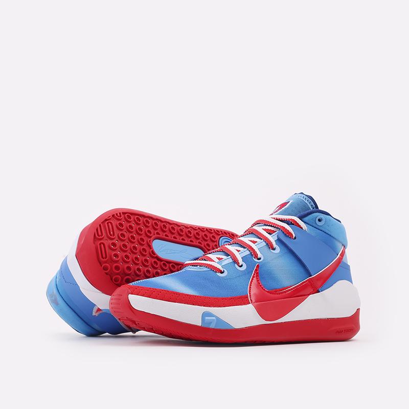 синие, красные, белые  кроссовки nike kd13 DC0009-400 - цена, описание, фото 6