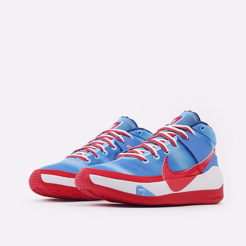 синие, красные, белые  кроссовки nike kd13 DC0009-400 - цена, описание, фото 2